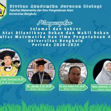 Pelantikan Dekan dan Wakil Dekan FMIPA Universitas Bengkulu